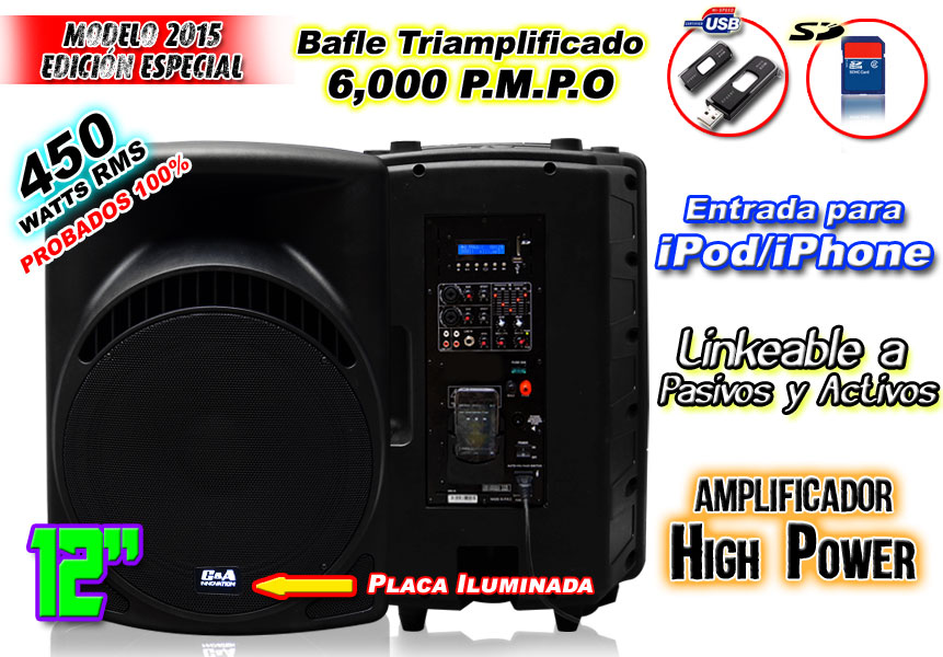 Bafle Amplificado 6000w