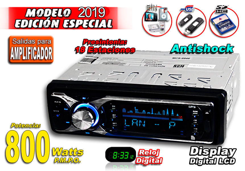 Autoestereo 800w