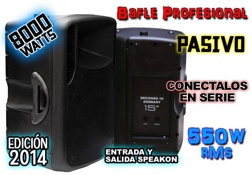 Bafle Plastificado 8000w