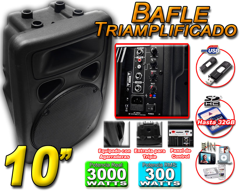 Bafle Amplificado 10 pulgadas