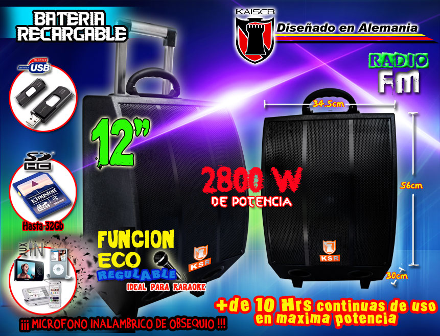 Bafle Amplificado 2800w