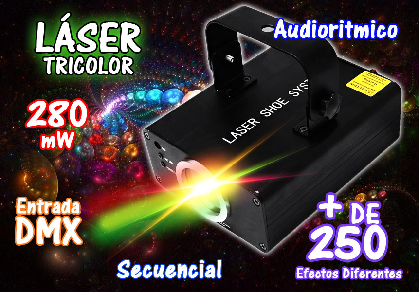 Laser Profesional Tri-color