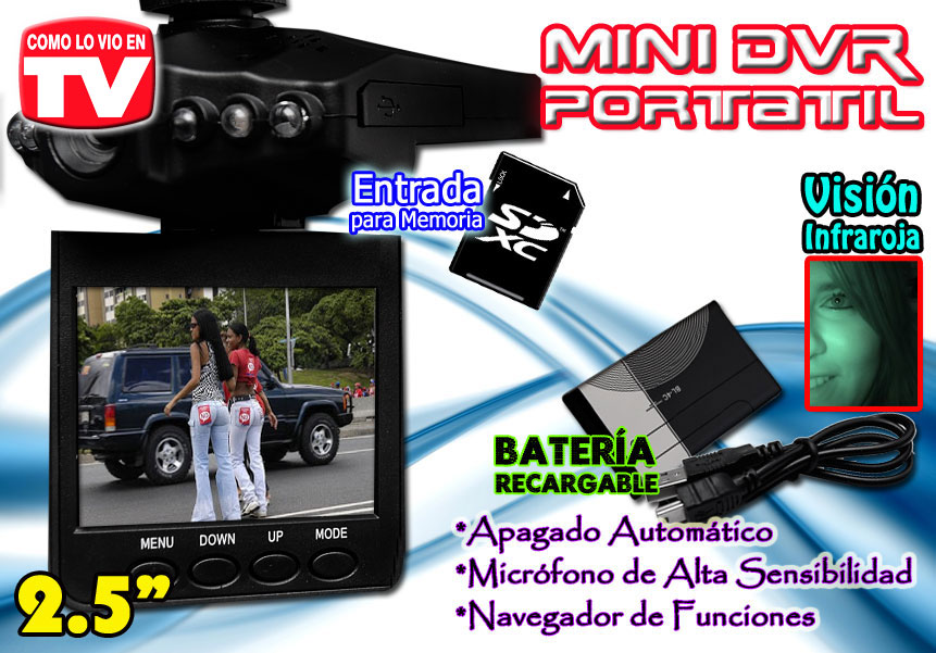 Camara Espia Y Dvr Integrado