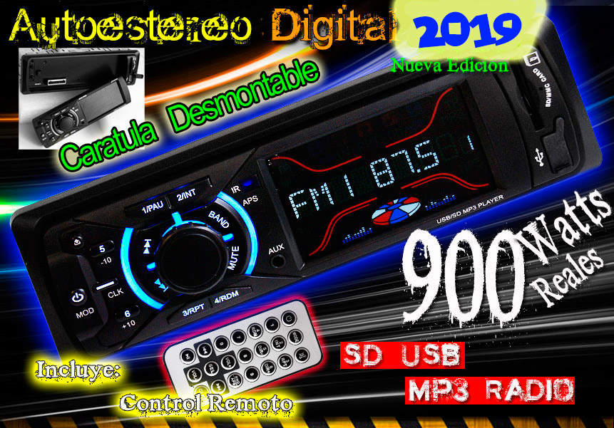 Autoestereo 900w